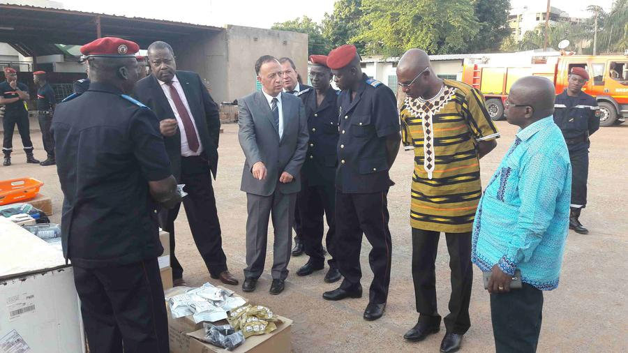 monaco s firefighters pay working visit to burkina faso news public aid for development and