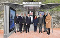 Voir la photo - Photo caption, from left to right: Roland Rechniewski, Operations Director for the Monegasque Bus Company (CAM), Frédéric Genta, Country Chief Digital Officer, Philippe Baudillon, CEO of Clear Channel France, Serge Telle, Minister of State, Marie-Pierre Gramaglia, Minister of Public Works, the Environment and Urban Development, Georges Marsan, Mayor of Monaco, Martin Peronnet, CEO of Monaco Telecom, and Axelle Amalberti Verdino, member of the Council of the Commune - © Government Communication Department – Michael Alesi