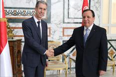 Accord tuniso monégasque - Mr Gilles Tonelli, Minister of Foreign Affairs and Cooperation, and Mr Khemaies Jhinaoui, Minister of Foreign Affairs of the Republic of Tunisia ©Ministry of Foreign Affairs of the Republic of Tunisia