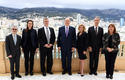 Accréditation EU - Surrounding H.S.H. the Sovereign Prince, from left to right: Patrice Cellario, Minister of the Interior; Anne-Marie Boisbouvier, Advisor in the Prince's Cabinet; Simon Hankinson, Consul General of the United States of America in Monaco; H.E. Ms Jamie McCourt, Ambassador Extraordinary and Plenipotentiary of the United States of America; Gilles Tonelli, Minister of Foreign Affairs and Cooperation; and Marie-Pierre Gramaglia, Minister of Public Works, the Environment and Urban Development © Government Communication Department/Manuel Vitali