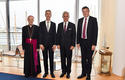 Accréditations Ambassadeurs 10-09-2019 - From left to right: H.E. Mgr Antonio Arcari, Apostolic Nuncio; Gilles Tonelli, Minister of Foreign Affairs and Cooperation; H.E. Mr Michael Linhart, Ambassador Extraordinary and Plenipotentiary of the Republic of Austria, and H.E. Mr Michael Starbaek Christensen, Ambassador Extraordinary and Plenipotentiary of Denmark  © Government Communication Department/Manuel Vitali