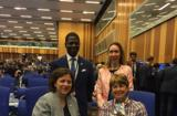 AIEA MONACO 2019 - From left to right: In the foreground:  Ms. Isabelle Rosabrunetto, Director General of the Ministry of Foreign Affairs and Cooperation and H.E. Ms. Isabelle Berro-Amadeï, Ambassador, Permanent Representative of Monaco to the IAEAIn the background:  Mr. Tidiani Couma, Secretary of External Relations and Ms. Anne Fantini, Counsellor at the Embassy of Monaco in Germany ©DR