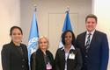 Conseil Administration PAM - From left to right: Virginia Villar-Arribas, WFP Country Director for Burundi; Martine Garcia-Mascarenhas, Deputy Permanent Representative to the FAO and WFP; Yordanos Seium-Pasquier, Senior Programme Manager in the Department of International Cooperation; and David Ryckembusch, WFP Chief of Technical Assistance, Private Sector Partnership and Innovation. ©DR