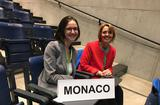 Délégation monégasque OMS - H.E. Ms. Carole Lanteri, Ambassador, Permanent Representative of the Principality to the United Nations Office in Geneva and Chrystel Chanteloube, Third Secretary © DR