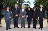Estonie - From left to right : Mr Georges Lisimacchio, Head of the Prince's Cabinet ; H.E. Mr Alar Streimann, Ambassador of the Republic of Estonia ; H.E. Mr Serge Telle, Minister of State, H.E. Ms Dragica Ponorac, Ambassador of Montenegro,  H.E. Mr Charles Gomis, Ambassador of the Republic of Côte d'Ivoire and Mr Gilles Tonelli, Minister of Foreign Affairs and Cooperation  ©Manuel Vitali Government Media Bureau