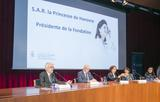Voir la photo - From left to right:  Jean-Charles Curau, Secretary General of the Prince Pierre Foundation, Jean-Luc Van Klaveren, Ambassador of Monaco to Spain, Leticia Ruiz Gómez, speaker, Soledad Murillo, Secretary of State for Equality and Maria Luisa de Contes, President of the Femmes Avenir Association. © - Julia Robles