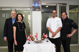 Voir la photo - Photo Caption, from left to right:  Marc Devito (Honorary Consul of Canada in Monaco), France Rioux, (President of he Canadian Club of Monaco) with Raphaël and Daniel Vézina (Canadian chefs)© –Government Communication Department/Manuel Vitali