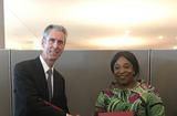 Ghana - Gilles Tonelli, Minister of Foreign Affairs and Cooperation of the Principality of Monaco, and Shirley Ayorkor Botchwey, Minister of Foreign Affairs and Regional Integration of Ghana ©DR