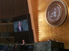 Gilles Tonelli AG ONU - Minister of Foreign Affairs and Cooperation Gilles Tonelli at the 73rd session of the UN General Assembly ©Prince's Palace/Gaétan Luci