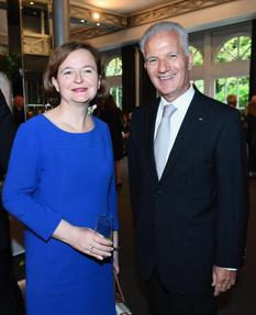 image1 - the French Minister for European Affairs Ms Nathalie Loiseau and H.E. Ambassador Claude Cottalorda©DR