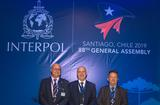 Interpol 3 - The Monegasque delegation (from left to right):  Stéphane Giorgetti, Chief Constable, acting Head of the Criminal Investigation Division, Richard Marangoni and Commander Olivier Jude, Head of the International Cooperation Section. ©DR