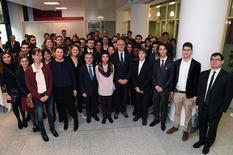 Voir la photo -  On 27 November, Serge Telle, the Minister of State, received the 30 Matrice students who had been selected to reflect on issues related to the Principality's digital development. © Government Communication Department/Manuel Vitali