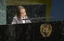 Maylen ONU - Mayleen, aged 9, representing Monaco at the UN © DR
