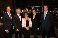 Monaco Week sydney - From Left to right:  Justin Scarr, CEO of Royal Life Saving Australia, Marc Von Arnim, General Manager of the Park Hyatt Sydney,H. E. Ms. Catherine Fautrier, Ambassador of Monaco to Australia, Monique Sharp, Royal Life Saving Australia and Hadrien Bourely, Honorary Consul of Monaco in Sydney ©DR