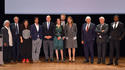 FPP 2016 Prizewinners - H.S.H. Prince Albert II and H.R.H. the Princess of Hanover surrounded by, from left to right: ADONIS, Frédéric Mitterand, Rosa Barba, Paul Greveillac, Catherine Dousteyssier-Khoze, Johannes-Maria Staud, Jean-Loup Dabadie, Frédéric Vitoux and Dany Lafferrière. © Government Communication Department / Charly Gallo