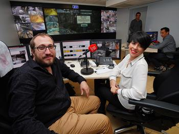 Radio Monaco CIGM - Eric Embriaco et Amber Quelin, de Radio Monaco, dans les locaux du CIGMCrédit photo : Michael Alesi © Direction de la Communication