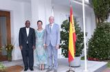 Réception Espagne 1 - H.E. Mr Jean-Luc Van Klaveren, Ambassador of Monaco to Spain, his wife and the Ambassador of South Africa to Spain ©DR