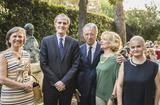Réception_Italie 2018 - From left to right: Ms Masset, H.E. Mr Christian Masset, France's Ambassador to Italy, H.E. Mr Robert Fillon, Monaco's Ambassador to Italy, Ms Mireille Fillon, Ms Martine Garcia-Mascarenhas, Second Secretary at the Monegasque Embassy in Italy © DR