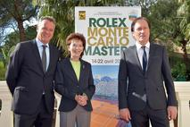 Rolex MC Masters 2018 -  From left to right: Chris Kermode, Executive Chairman and President of the Association of Tennis Professionals (ATP), Baroness Elizabeth-Ann de Massy, President of the Tournament Committee, and Zeljko Franulovic, Tournament Director.Photo credit: Government Communication Department / Charly Gallo