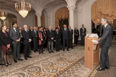 Voeux corps consulaire 2018 - Gilles Tonelli, Minister of Foreign Affairs and Cooperation, delivers his New Year address to the Diplomatic and Consular Corps accredited to the Principality © Government Communication Department / Manuel Vitali